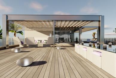 Aménagement d'une terrasse à la fois design et moderne à Toulouse